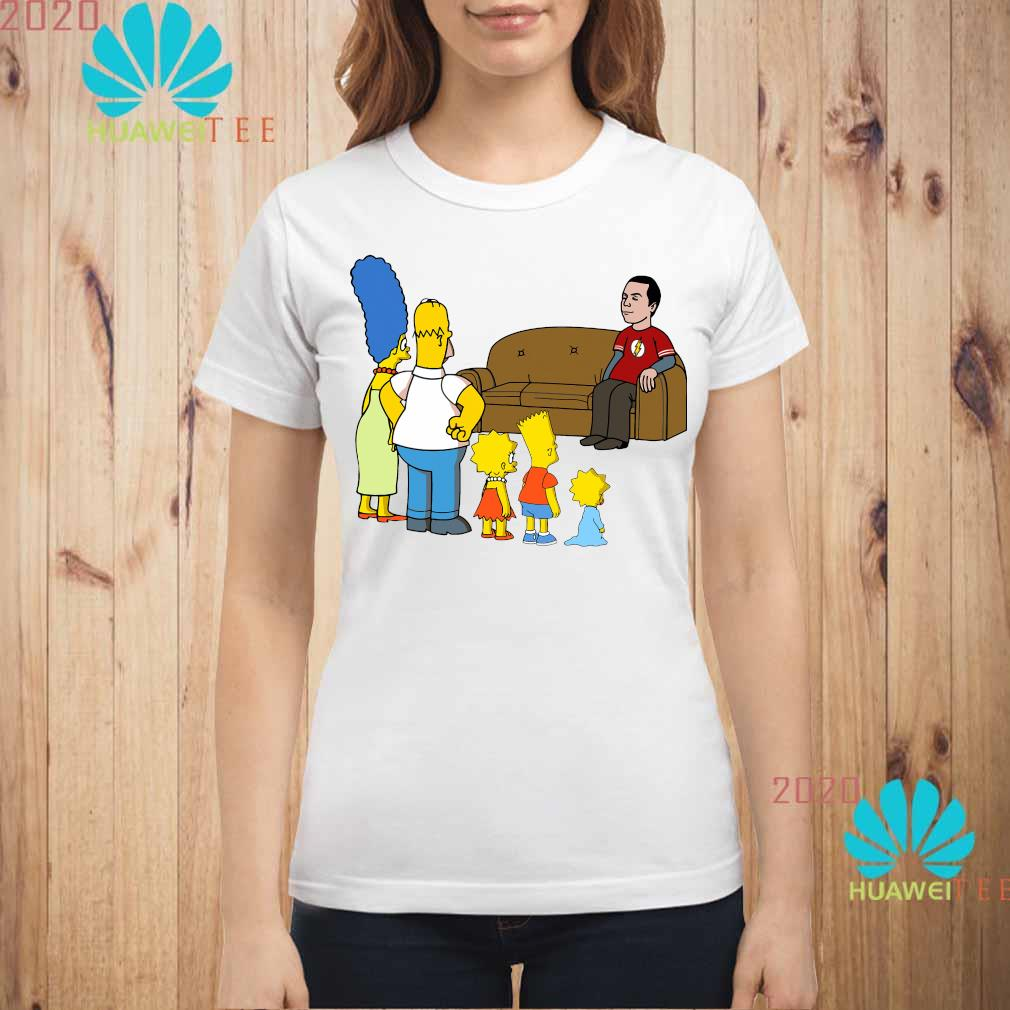 The Simpsons Family And Bazinga Shirt ladies-shirt
