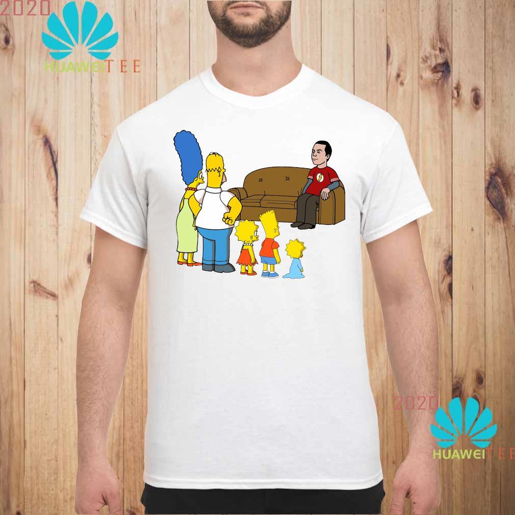 The Simpsons Family And Bazinga Shirt unisex
