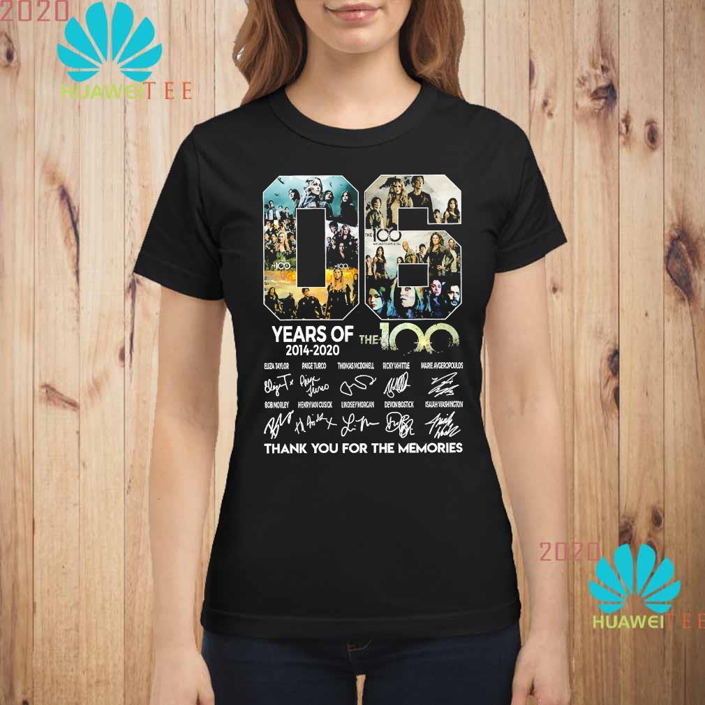 06 Years Of The 100 2014 2020 Thank You For The Memories Signatures Shirt ladies-shirt