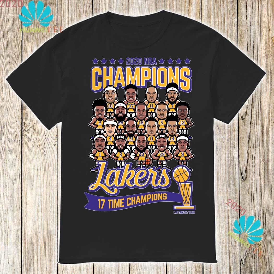 2020 NBA Champions Lakers 17 Time Champions Shirt