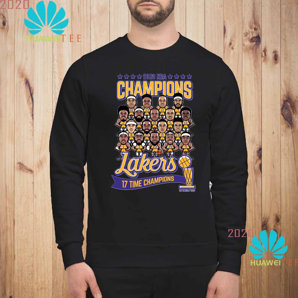 2020 NBA Champions Lakers 17 Time Champions Shirt sweatshirt