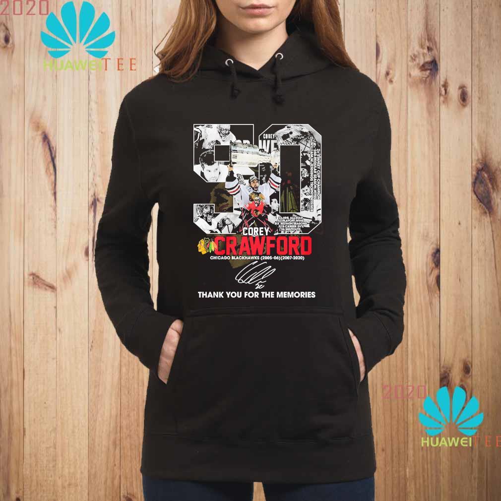 50 Corey Crawford Chicago Blackhawks Thank You For The Memories Shirt hoodie