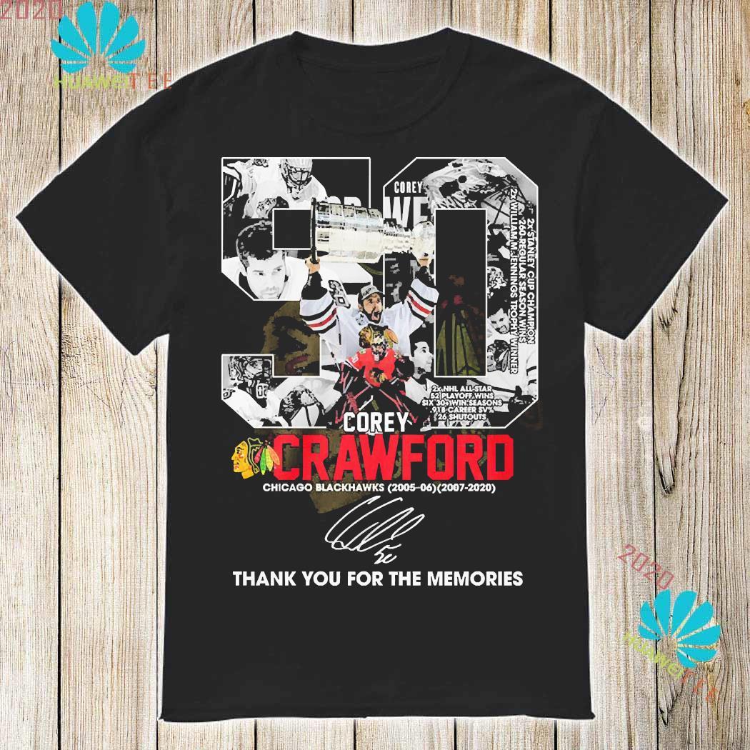 50 Corey Crawford Chicago Blackhawks Thank You For The Memories Shirt