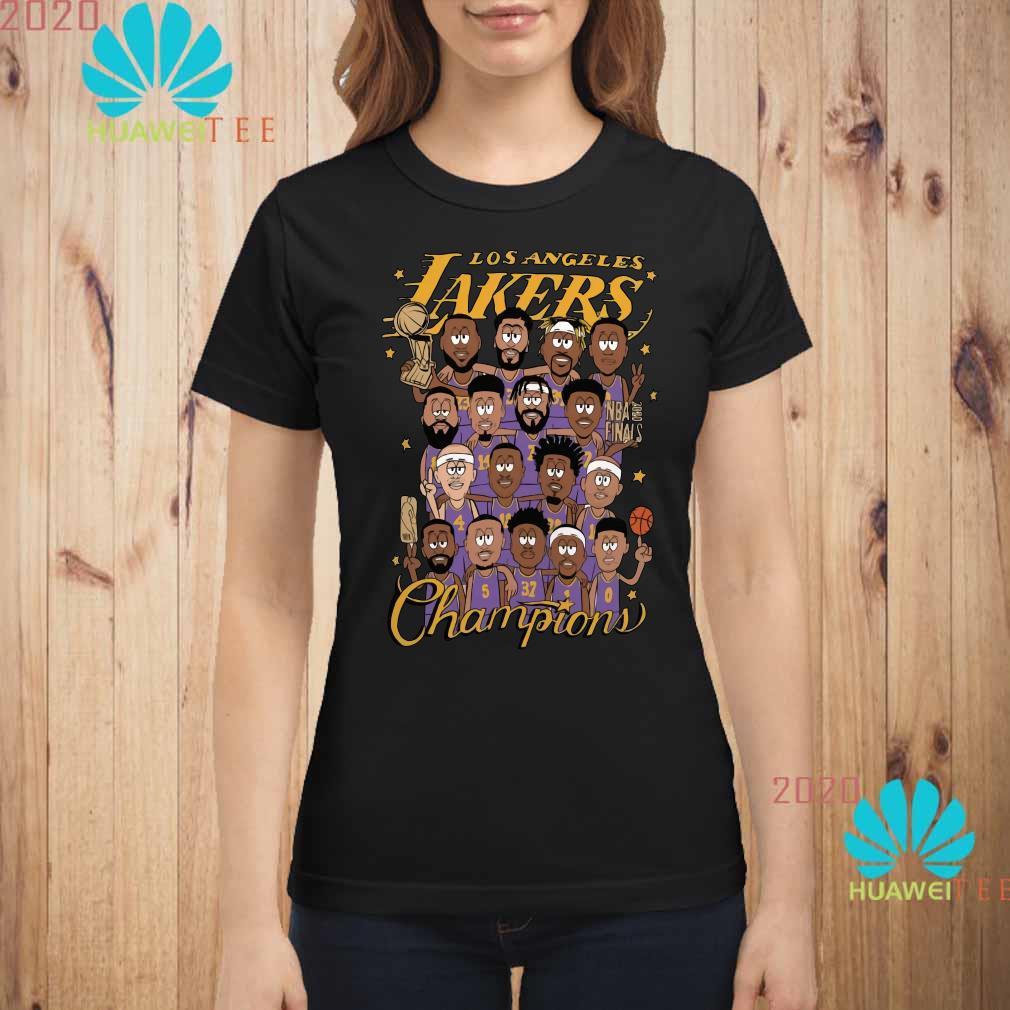 All Player Los Angeles Lakers Cartoon Champions Shirt ladies-shirt