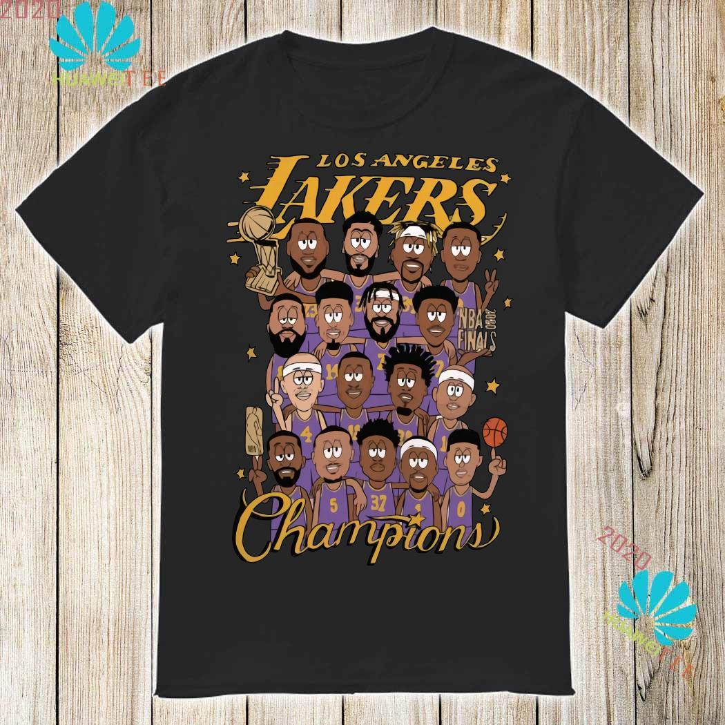 All Player Los Angeles Lakers Cartoon Champions Shirt