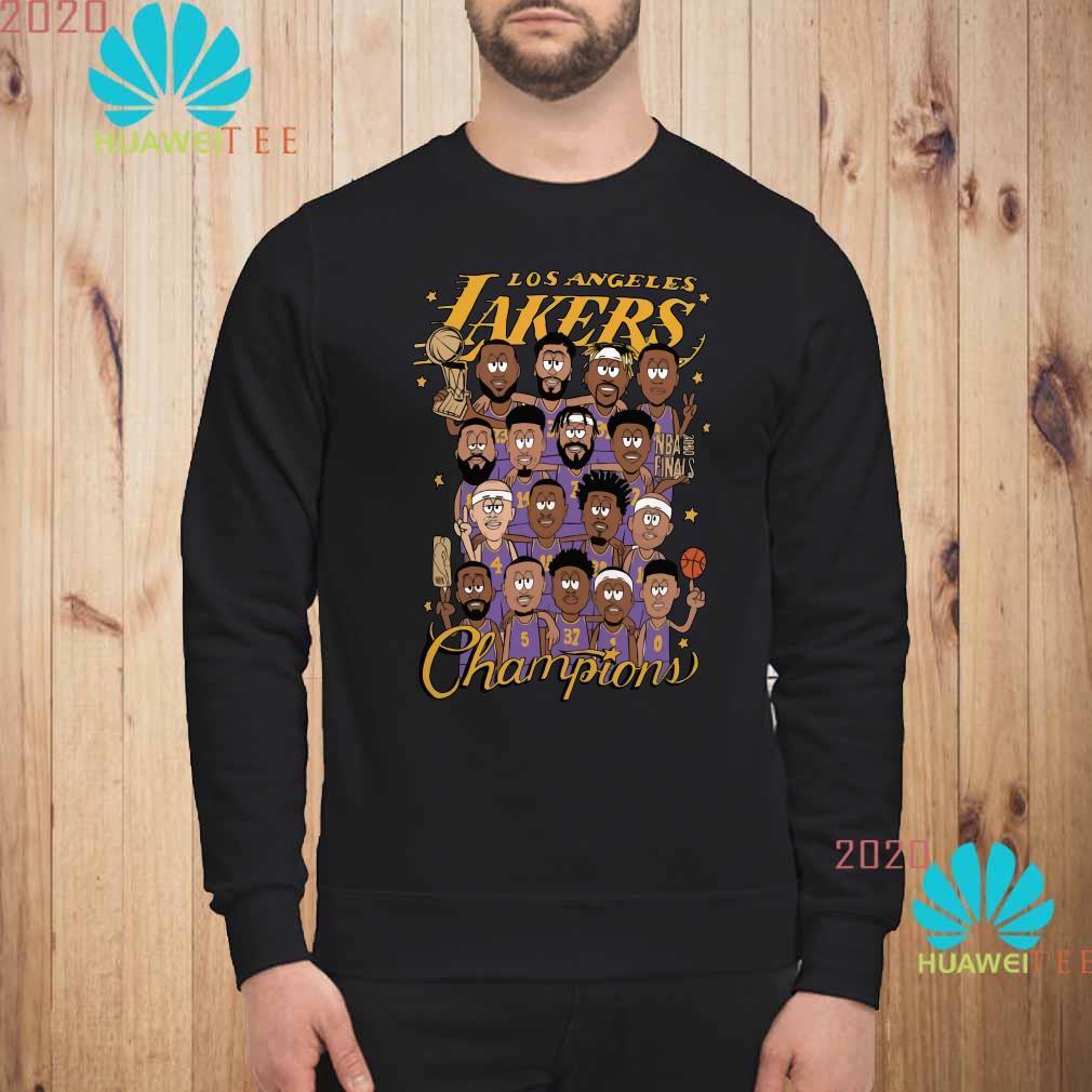 All Player Los Angeles Lakers Cartoon Champions Shirt sweatshirt