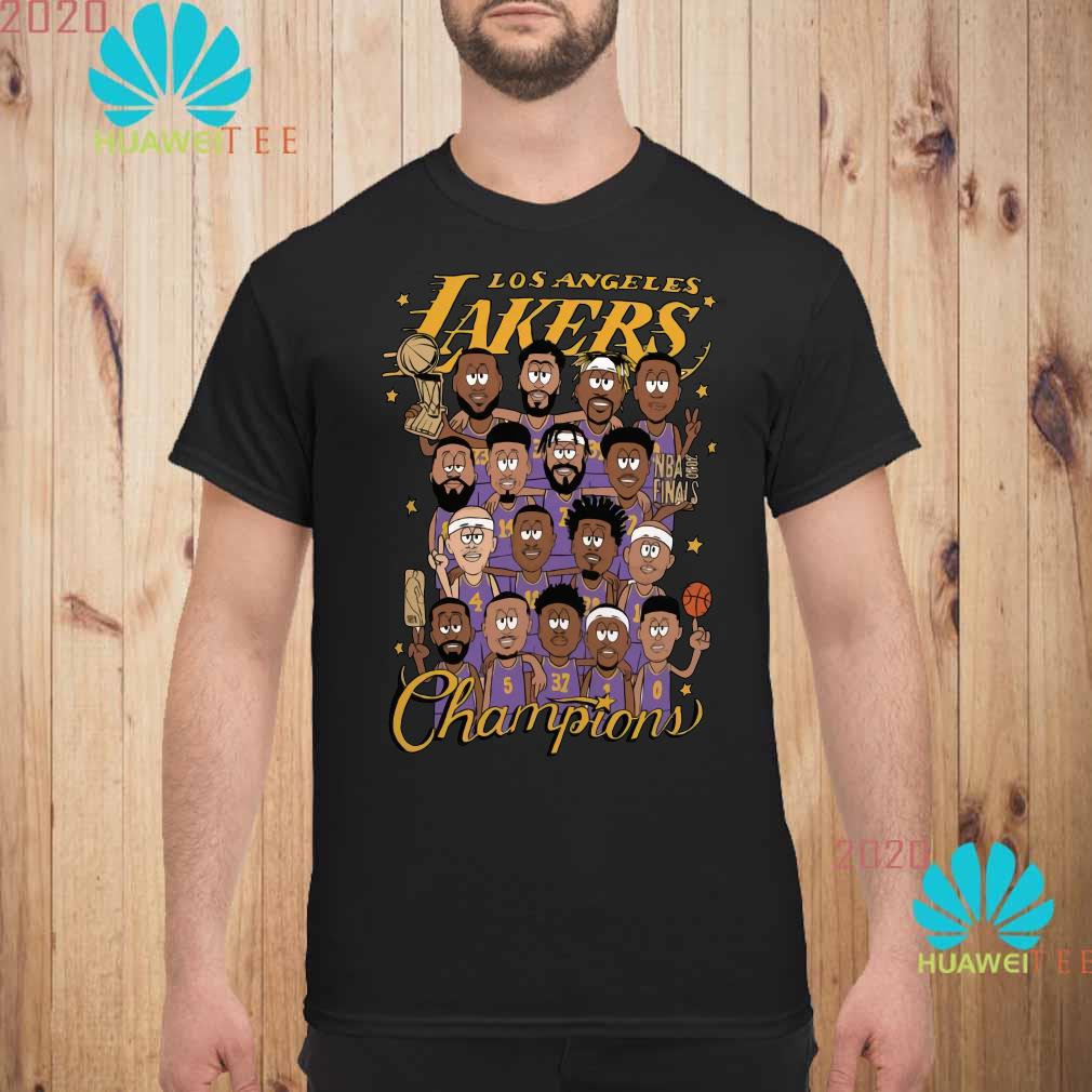 All Player Los Angeles Lakers Cartoon Champions Shirt unisex