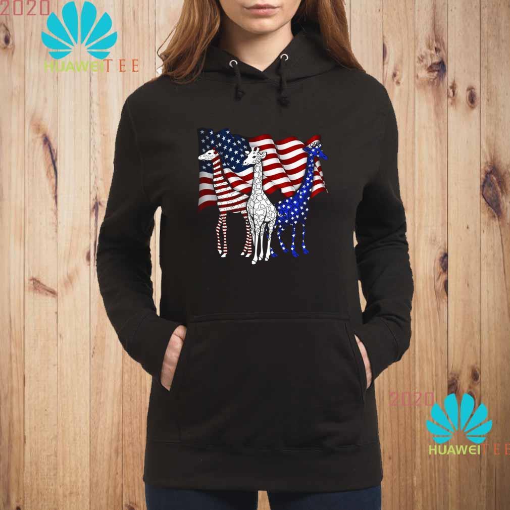 American Flag Giraffes Shirt hoodie