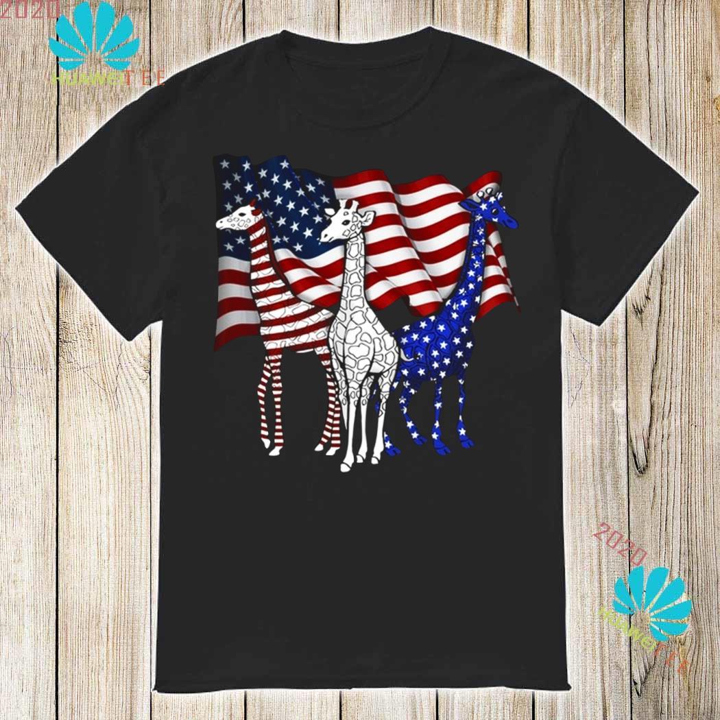 American Flag Giraffes Shirt