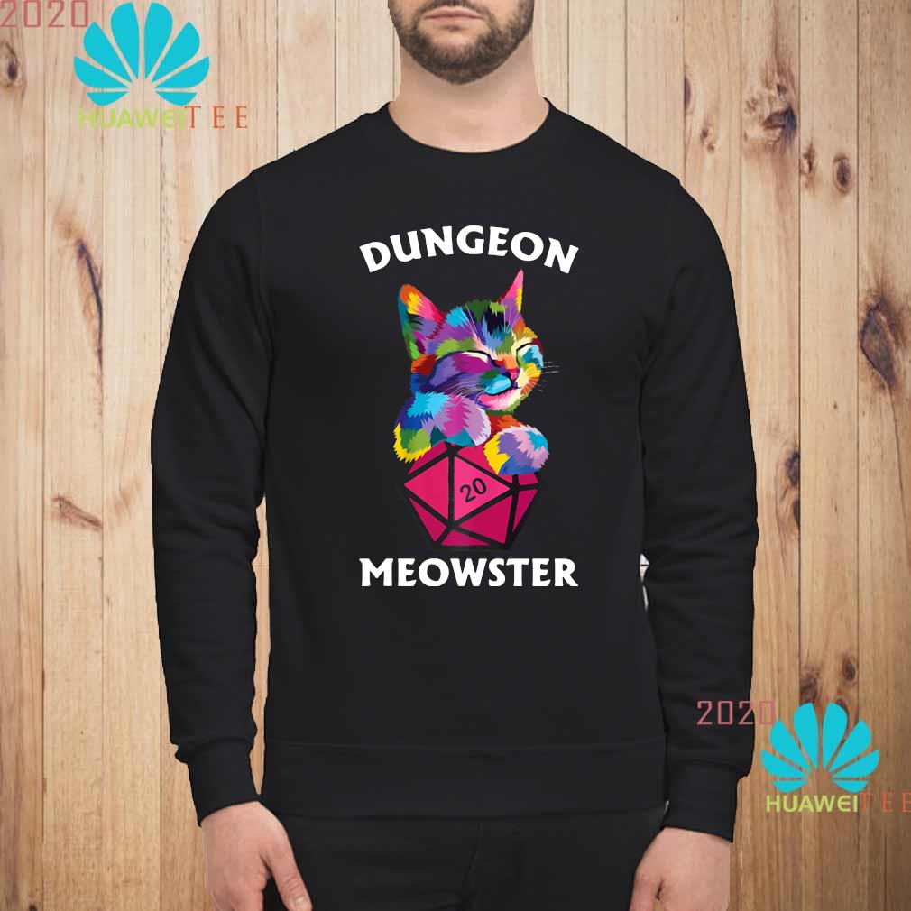 Cat Colorful Dungeon Meowster Shirt sweatshirt