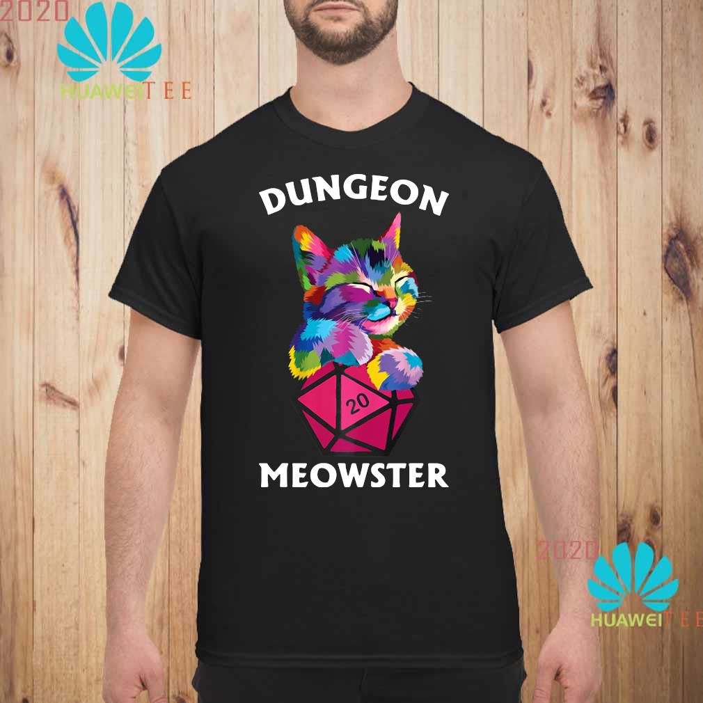 Cat Colorful Dungeon Meowster Shirt unisex