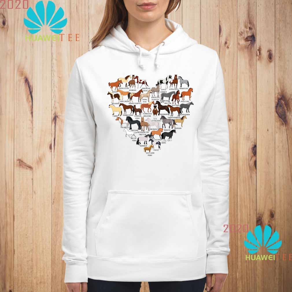 Horse Breed Of Horses Heart Shirt hoodie