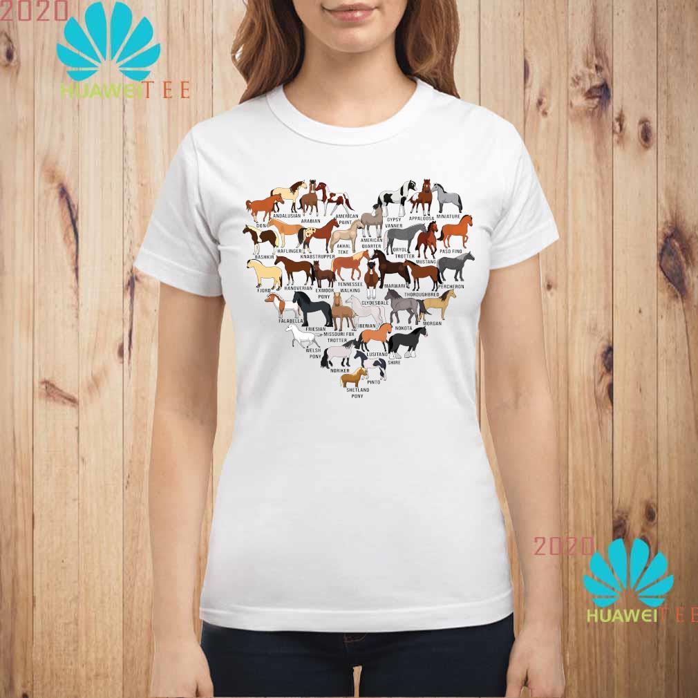 Horse Breed Of Horses Heart Shirt ladies-shirt