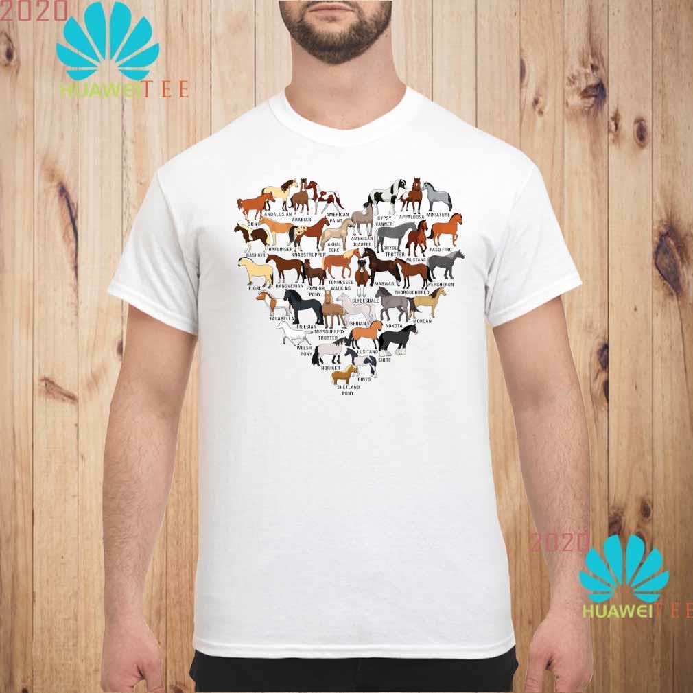 Horse Breed Of Horses Heart Shirt unisex