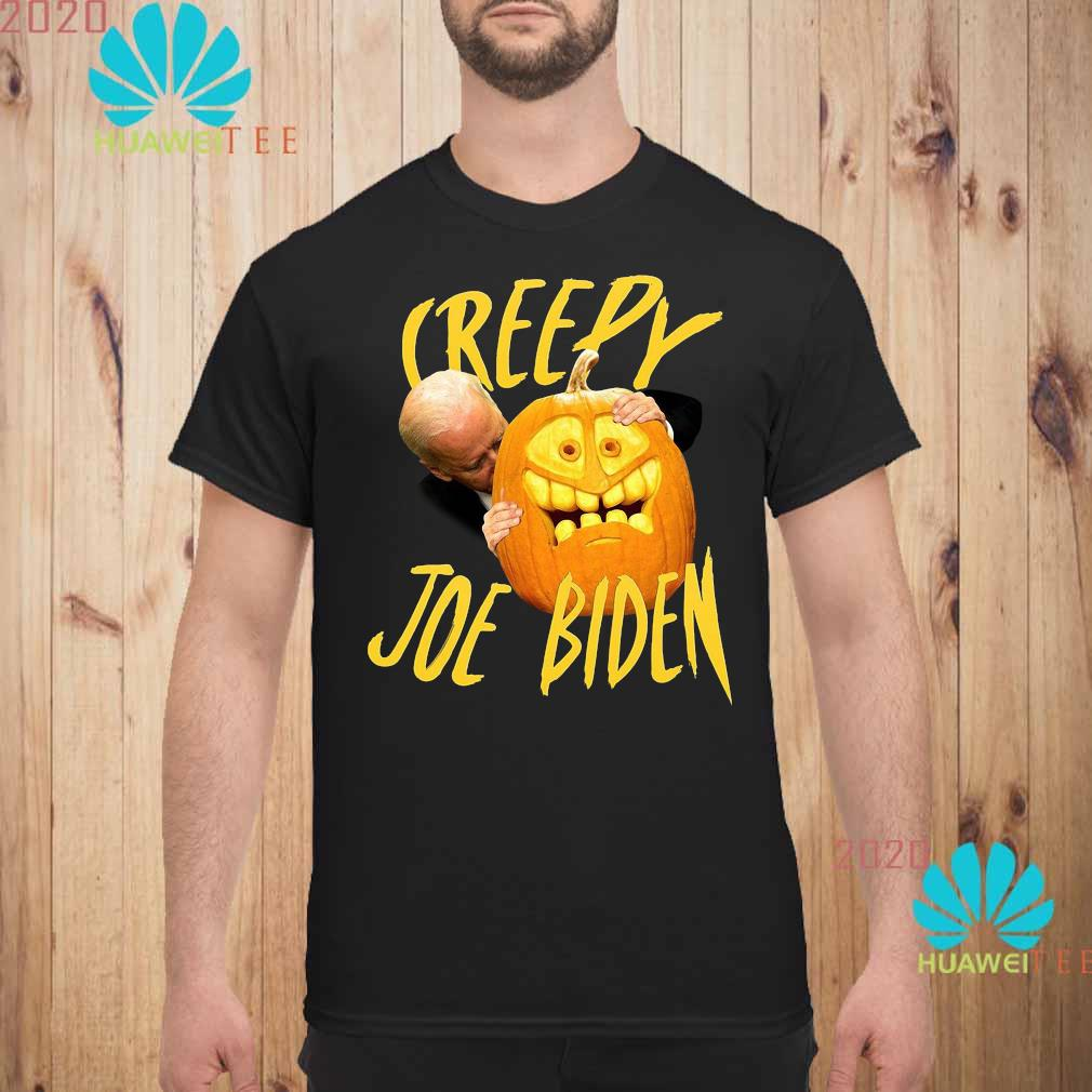 Joe Biden Hug Pumpkin Creepy Shirt unisex
