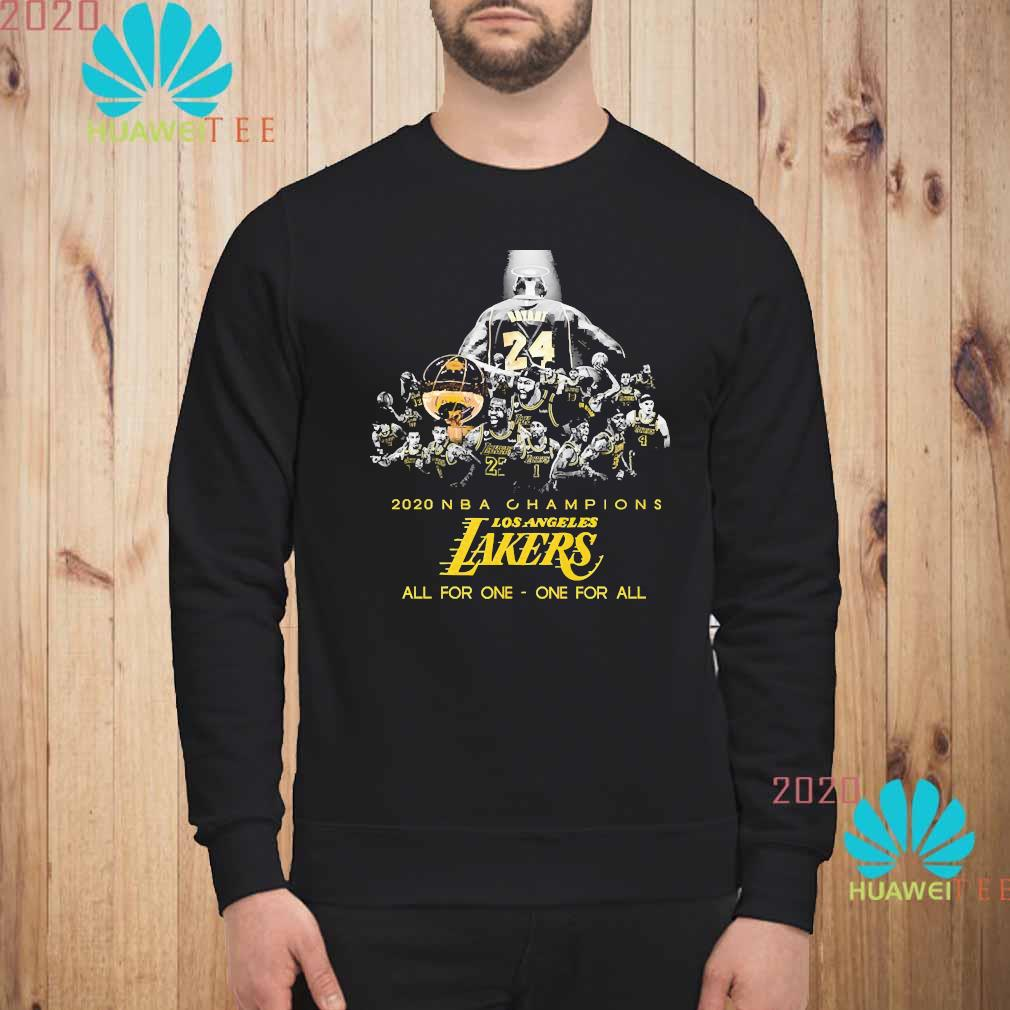 Kobe Bryant 2020 NBA Champions Los Angeles Lakers All For One One For All Shirt sweatshirt