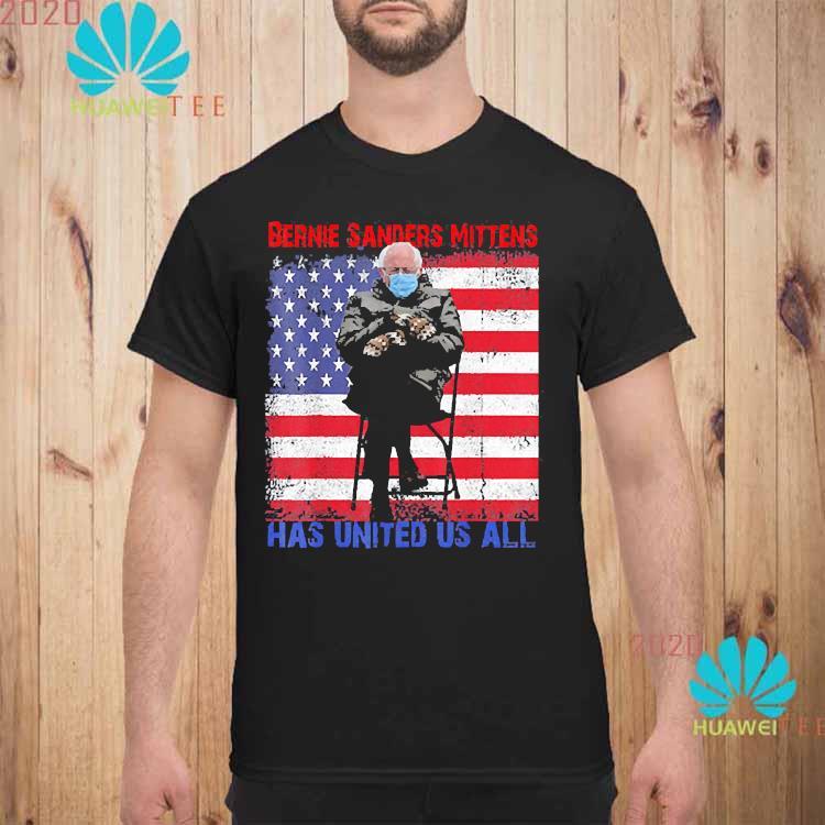 Bernie Sanders Mittens Sitting Inauguration USA Flag Shirt unisex