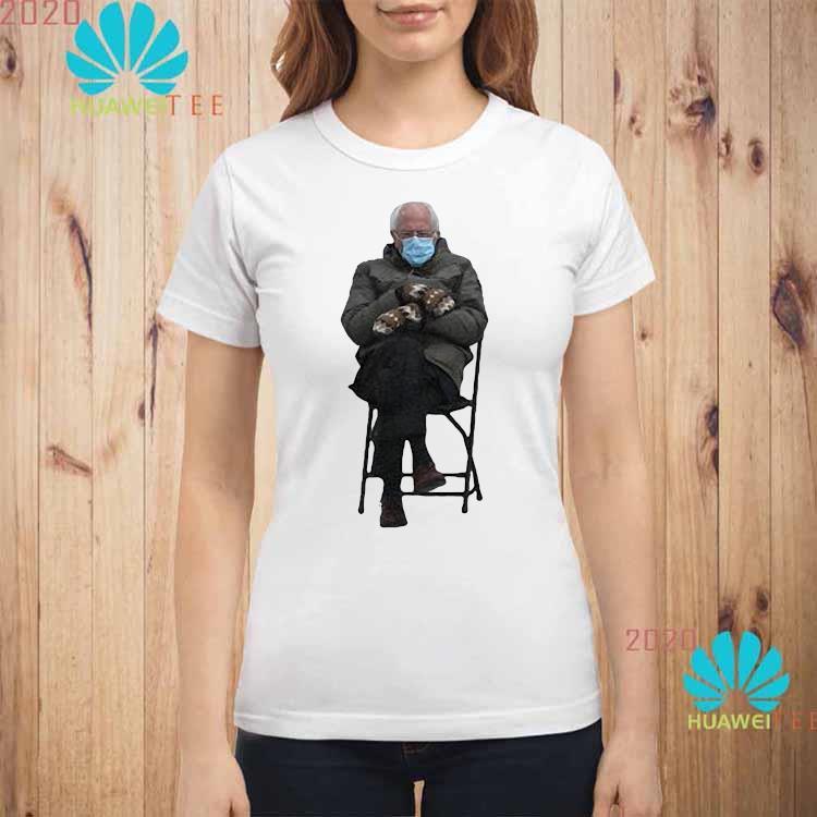 Bernie Sanders' Viral Inauguration Meme Is Now Immortalized In Shirt ladies-shirt