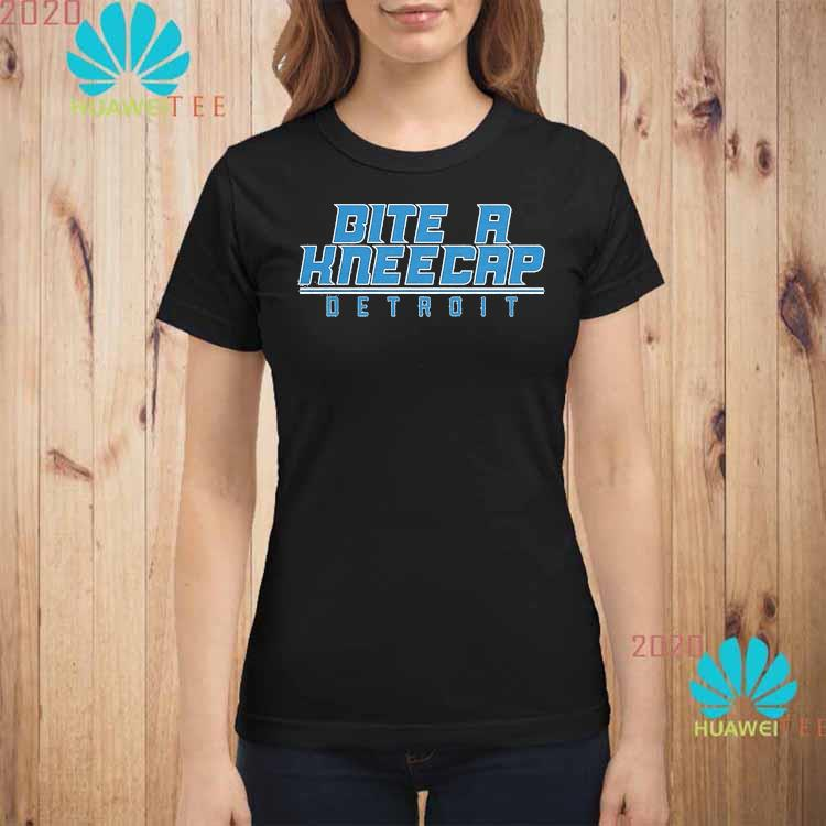 Bite A Kneecap Detroit Football Shirt ladies-shirt