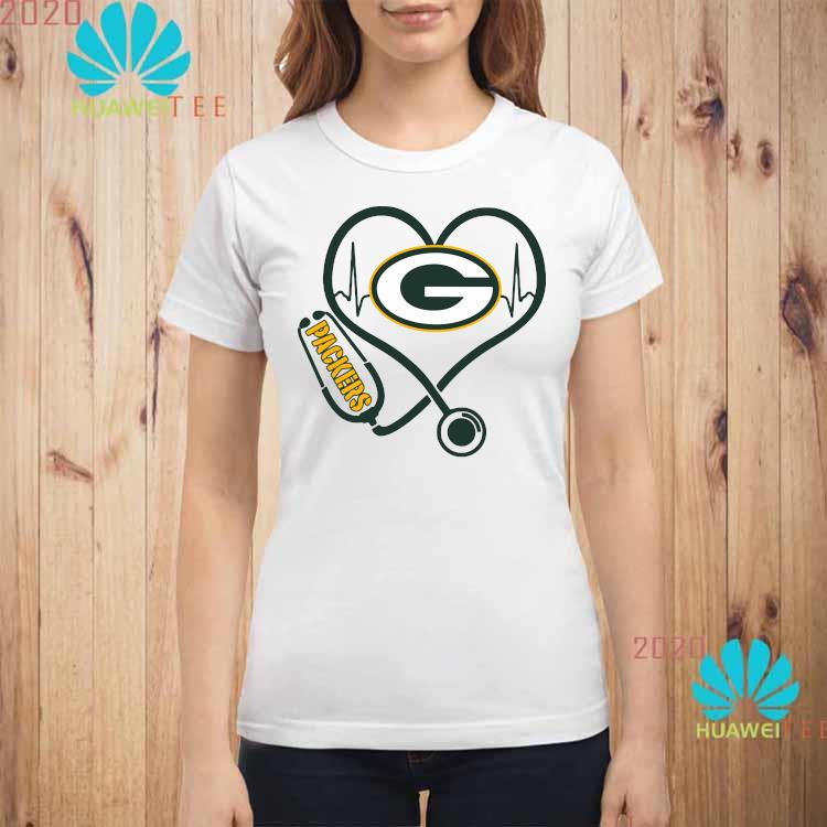Heartbeat Nurse Green Bay Packers Shirt ladies-shirt