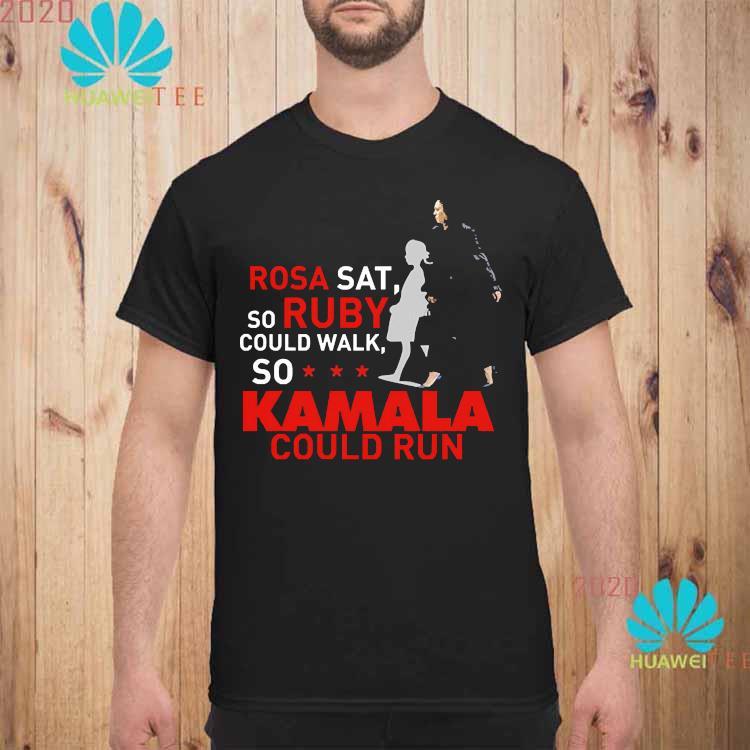 Kamala Harris Rosa Sat Ruby Walk First Female Vice President Shirt unisex