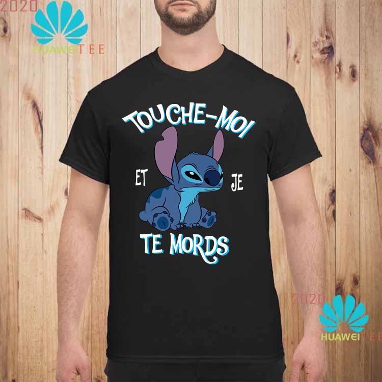 Stitch Touche Moi Et Je Te Mords Shirt unisex